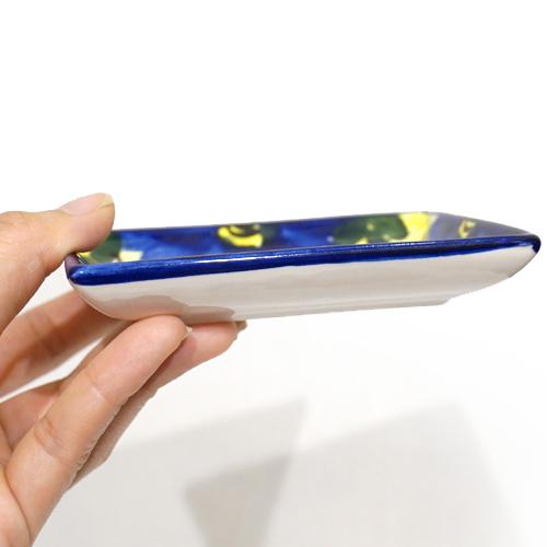 スペイン陶器 SP-6521AA 長方形小皿