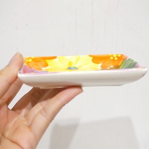 スペイン陶器 SP-6521MF 長方形小皿