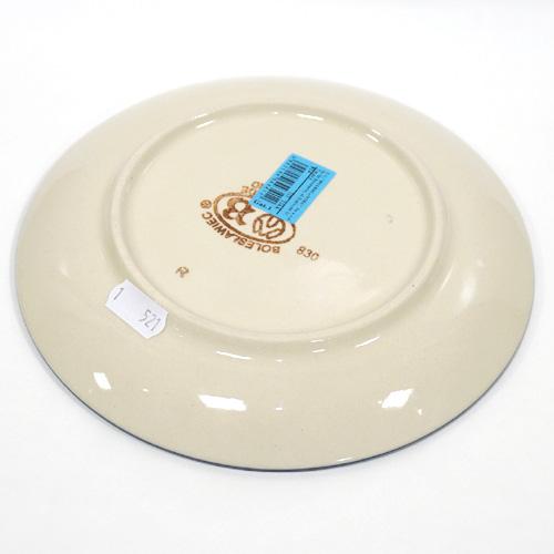 ポーランド陶器 ポーリッシュポタリー 「ボレスワヴィエツ」 プレート19cm GU814-226A 藍地×白小花