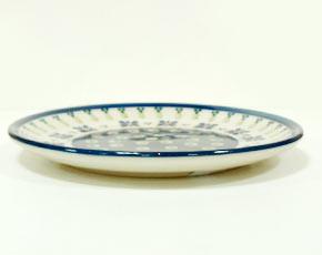 ポーランド陶器 ポーリッシュポタリー 「ボレスワヴィエツ」 プレート16cm GU818-296A 緑目玉/青花柄
