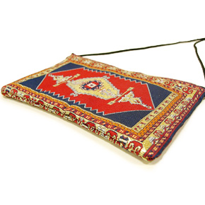トルコ 絨毯柄ショルダーポーチ NP-FL001 レッド
