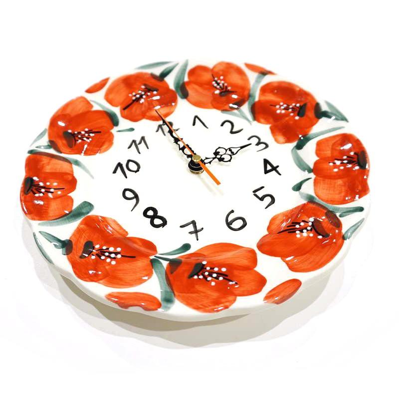 スペイン陶器 絵皿時計 SP-9001APH