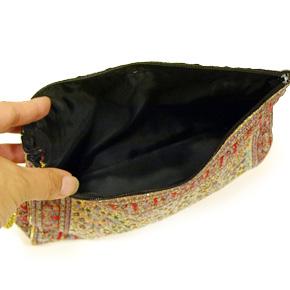 トルコ 絨毯柄ポーチ NP-LL110 レッド