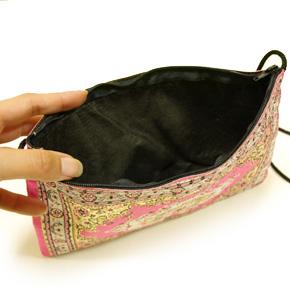 トルコ 絨毯柄ショルダーポーチ NP-FL002 ピンク