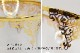 【訳あり値引き品】トルコ製チャイグラス CB-236 ゴールドxブルーアラベスク/クリア(1客) 大サイズハンドル付