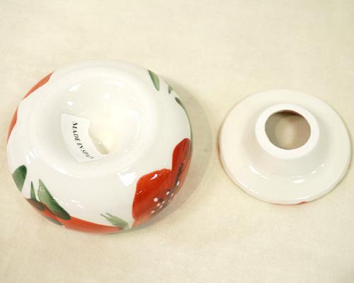 スペイン陶器 SP-5013APH 水灰皿/赤いポピー ハエン/JAEN