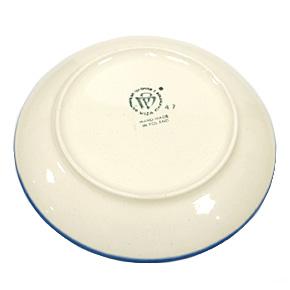 ポーランド陶器 ポーリッシュポタリー 「WIZA」 プレート19cm W203-25D カモミール柄