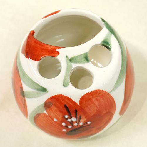スペイン陶器 SP-400APH 歯ブラシ立て(ペン立て)/赤いポピー ハエン/JAEN