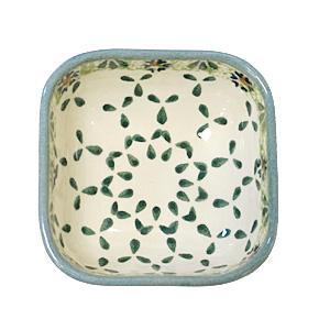 ポーランド陶器 ポーリッシュポタリー 「WIZA」 スクエアミニボウル WBOWL173-25A カモミール柄