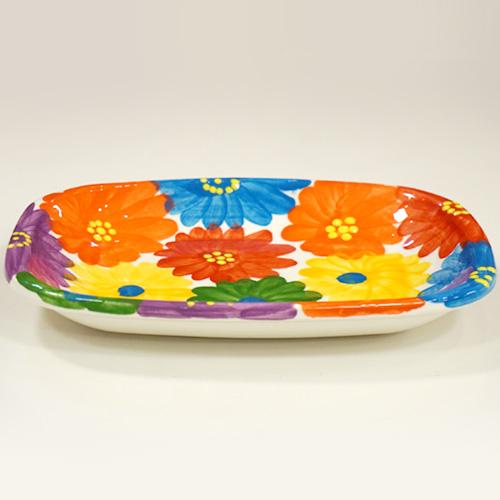 スペイン陶器 SP-597MF 角丸角皿