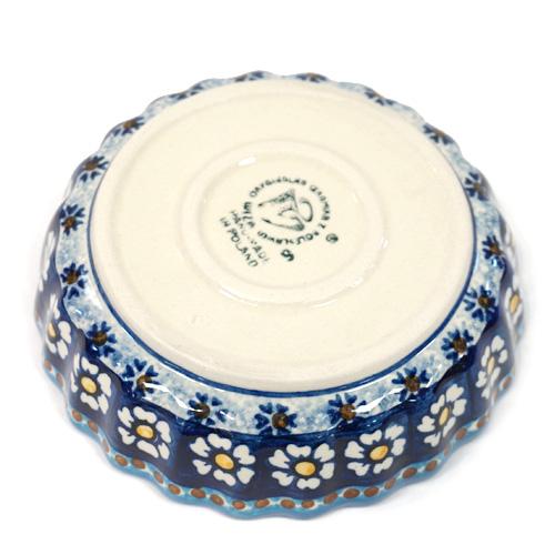 ポーランド陶器 ポーリッシュポタリー 「WIZA」 スフレ皿15cm W255-25D カモミール柄