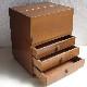 FS028 古い資生堂の木製メイクボックス 化粧箱 小引き出し