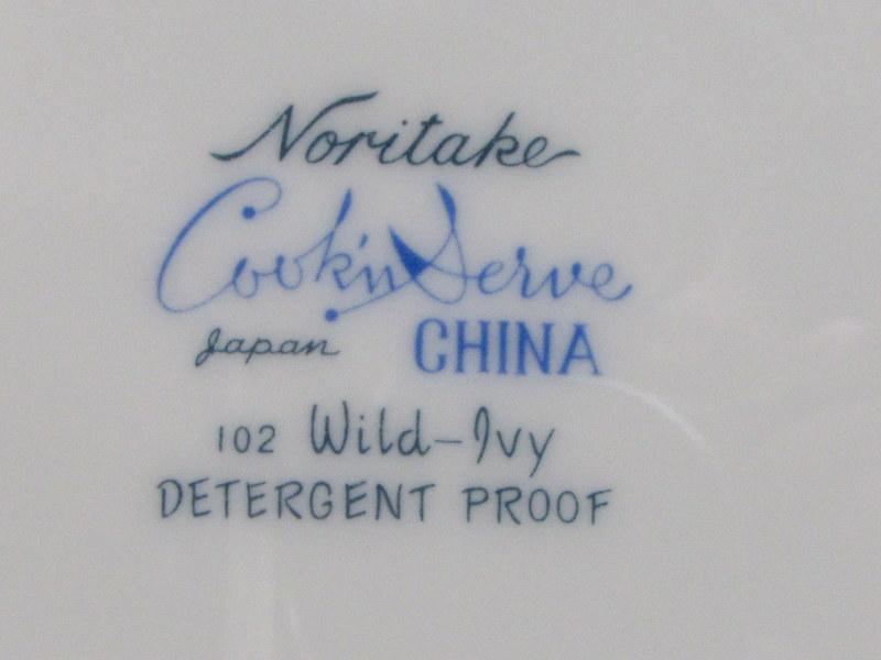 ノリタケ Cookin Serve ディナープレート ワイルドアイビー WILD IVY  102