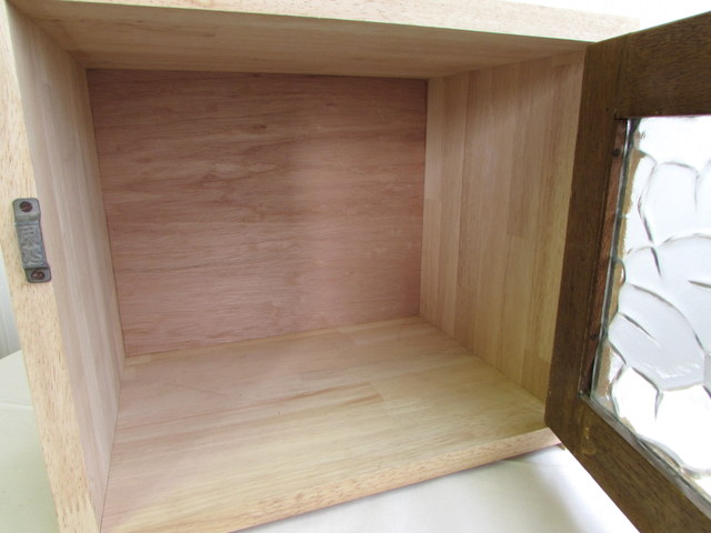 レトロなカギ付き扉の収納ボックス『45』 リメイク ハンドメイド家具 木製