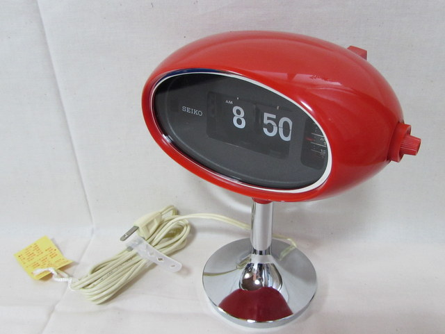CA006 SEIKO セイコーデジタルアラームクロック 赤 レトロな目覚まし時計