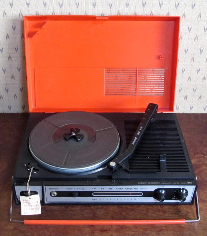 コロンビア ポータブルレコードプレーヤー ラジオフォノグラフ 268
