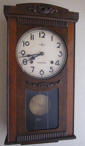 CW004  SEIKOSHA 精工舎 宮付き柱時計