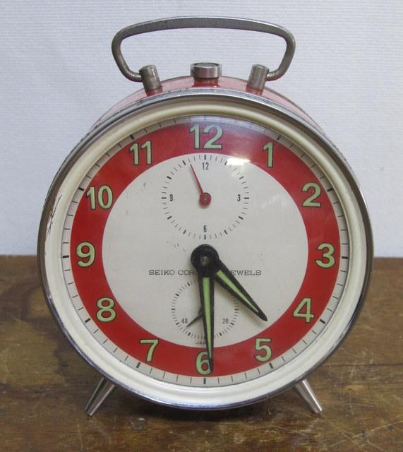 CA003 SEIKO CORONA セイコー コロナ ゼンマイ式目覚まし時計 赤