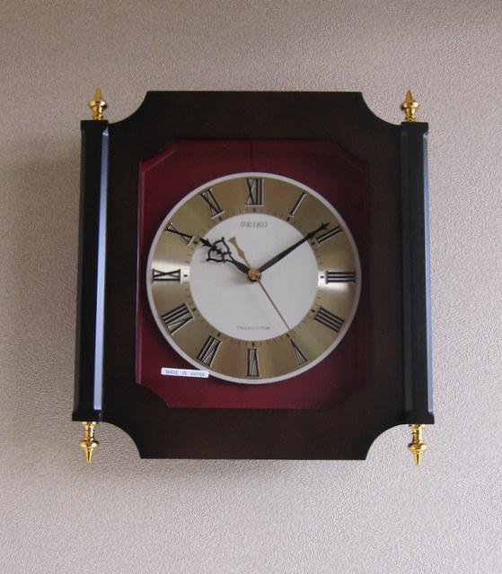CR004 SEIKO セイコー 木枠のトランジスタ掛け時計 デッドストック