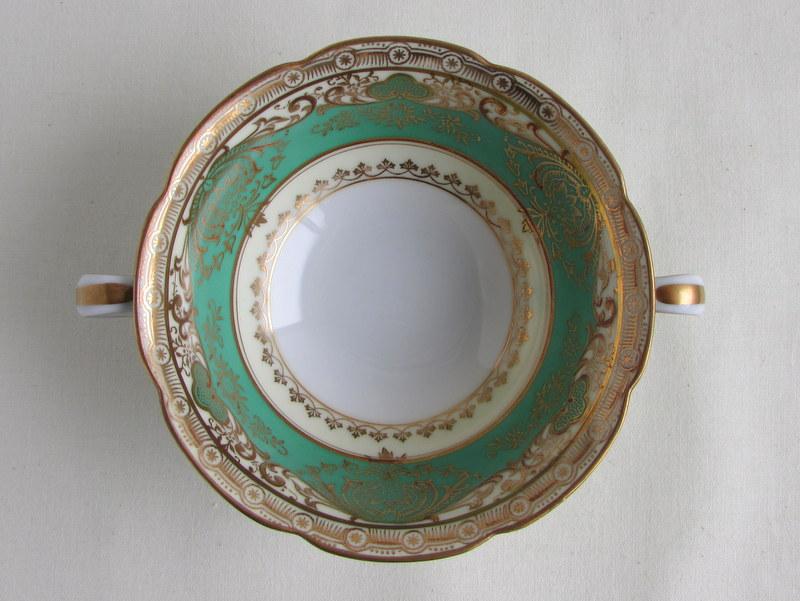 オールドノリタケ スープカップ 金彩緑色