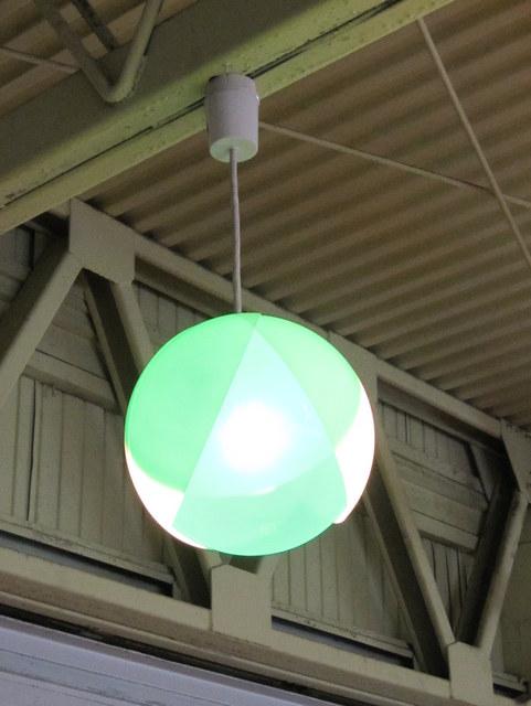 ナショナル フラワーペンダントライト グリーン