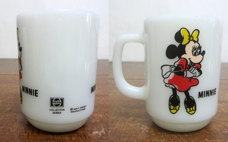 Fire-King ファイヤーキング ディズニー ミニーマウス アドマグ ペプシ