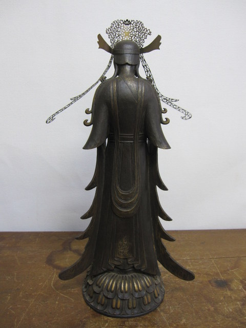 松久佳遊 救世観音菩薩像 ブロンズ仏像