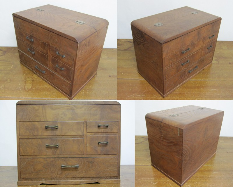 FS014 古いお針箱 裁縫箱
