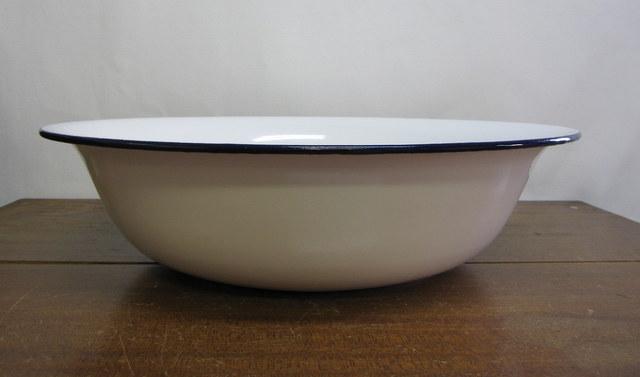 ホーロー洗面器 特大50cm デッドストック 02