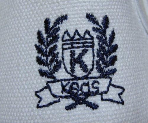 keds ケッズ キャンバススニーカー スリッポン 白/紺 デッドストック  7 1/2(24.5cm)