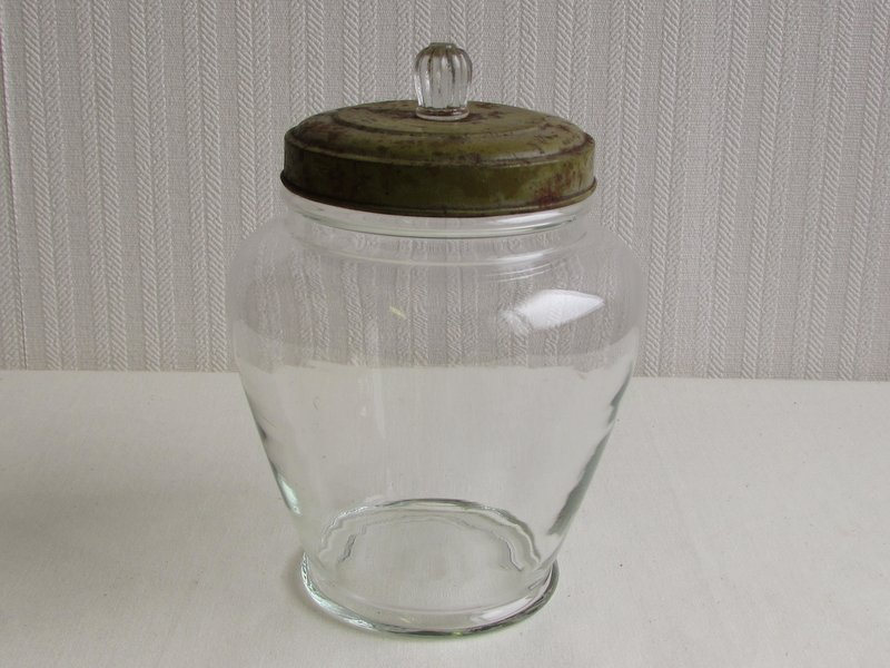 小さな菓子瓶 あめや瓶 レトロガラス 02