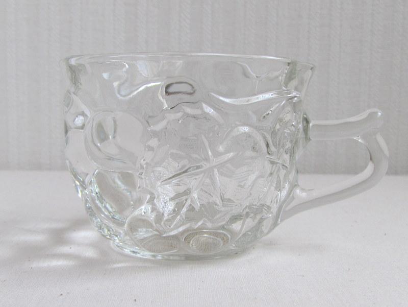 曽我ガラス GrapeLine グレープティカップ&ソーサー 2個セット