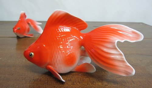 ノリタケ 金魚 大小セット