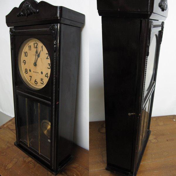 CW010 SEIKOSHA 精工舎 宮型柱時計 ロングタイプ