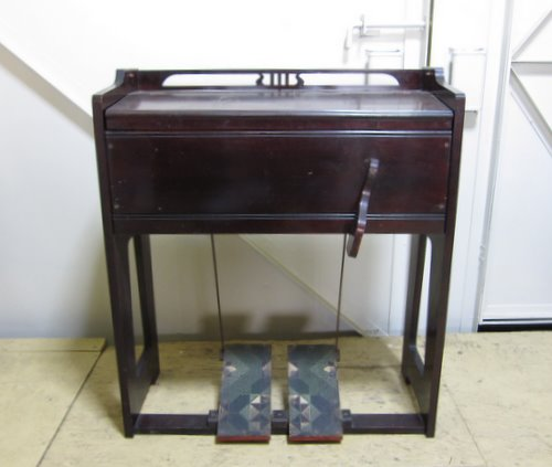 古い足踏み式 リードオルガン マツザカヤオルガン 椅子付き