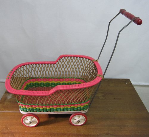 古い乳母車 人形・子供用