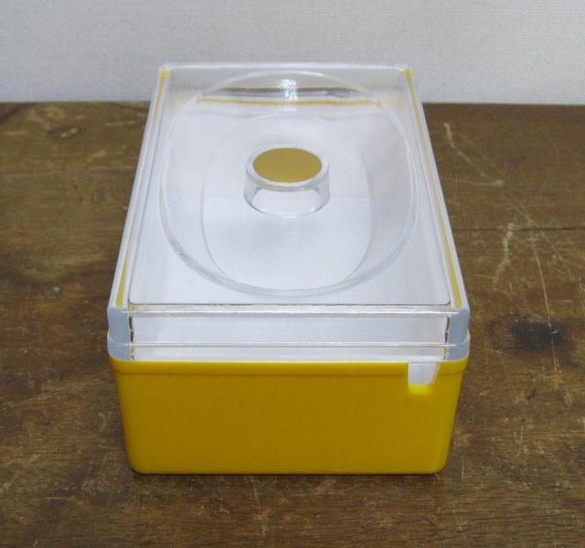 昭和レトロなバターケース 黄色