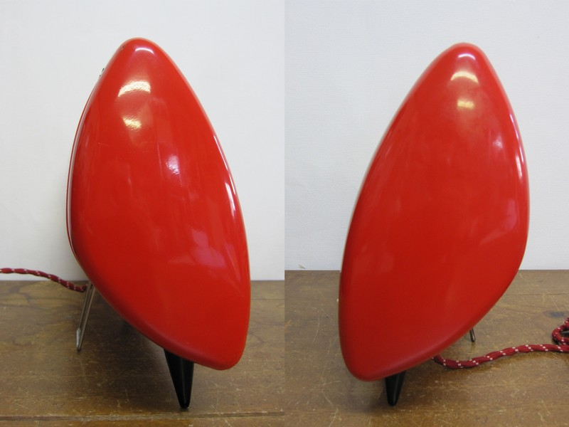 EH004 ナショナル 昭和レトロな電気ストーブ 赤