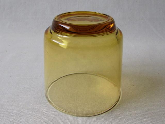 昭和レトロ アンバーカラーのミニグラス 5個セット