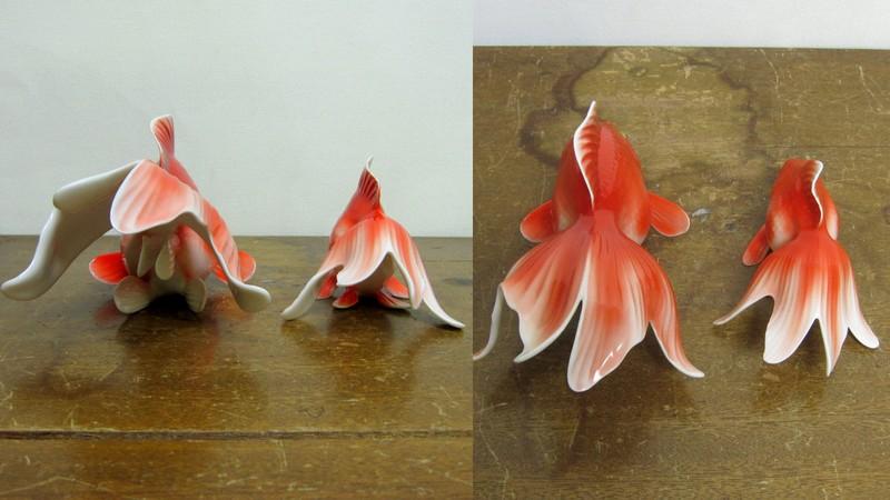 ノリタケ 金魚 大小セット 03