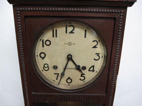 CW009 SEIKOSHA 精工舎 宮型柱時計