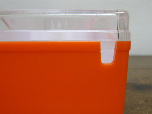 昭和レトロなバターケース オレンジ