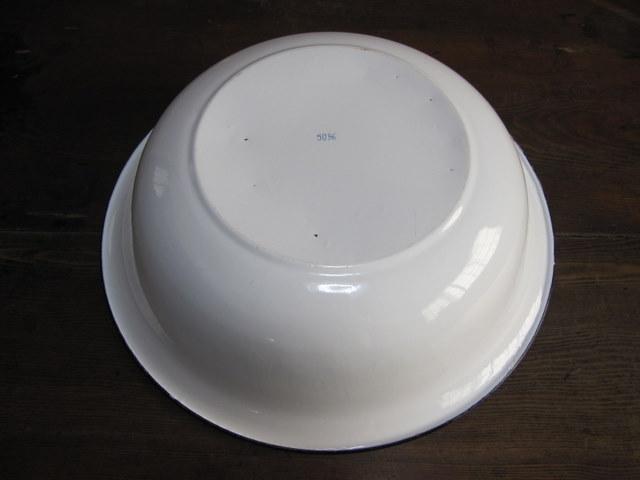 ホーロー洗面器 特大50cm デッドストック 01