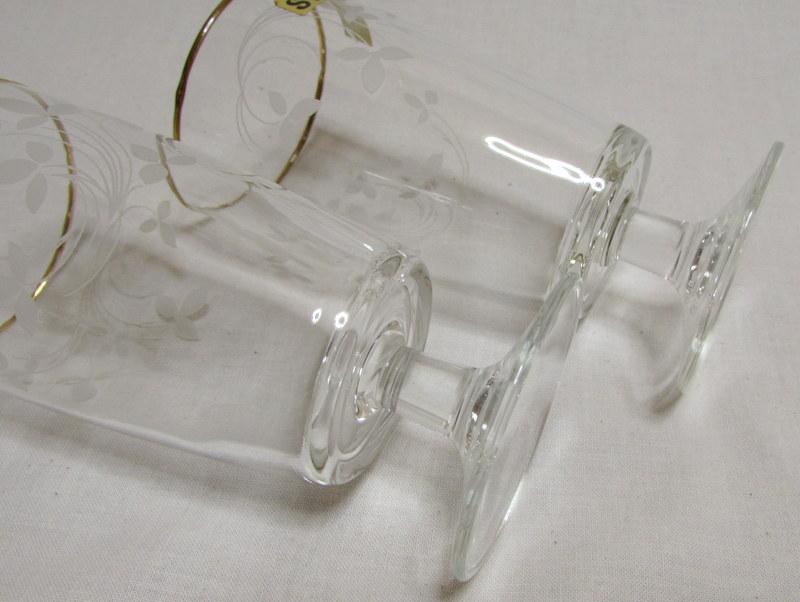 アデリア 小ぶりな脚付きグラス 2個セット