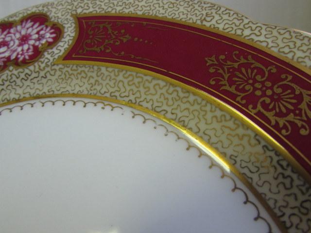 オールドノリタケ カップ&ソーサー ケーキ皿 トリオ N659 ハンドペイント 2