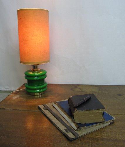 レトロモダンなテーブルランプ テーブルスタンドライト グリーン