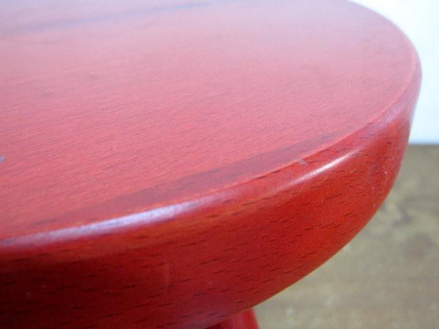 飛騨産業【キツツキ】 ミルクスツール 丸椅子 レッド