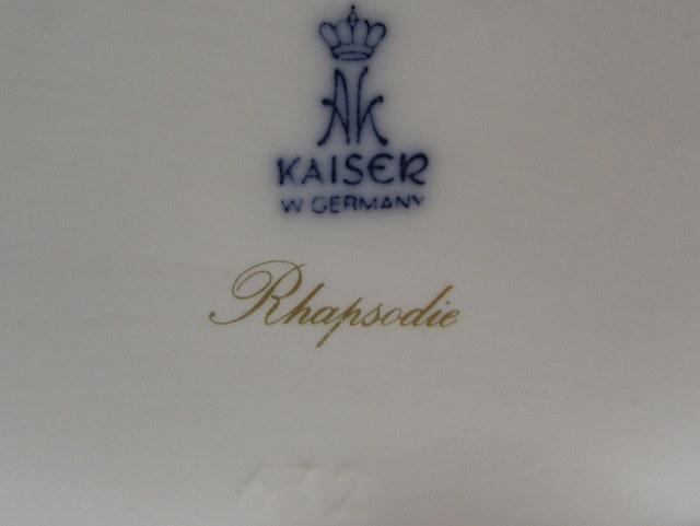 Kaiser Porzellan カイザーポーセレン 蓋物 小物入れ Rapsodie
