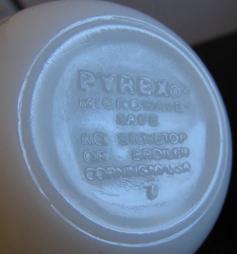 OLD PYREX オールドパイレックス カップ リボンブーケ01