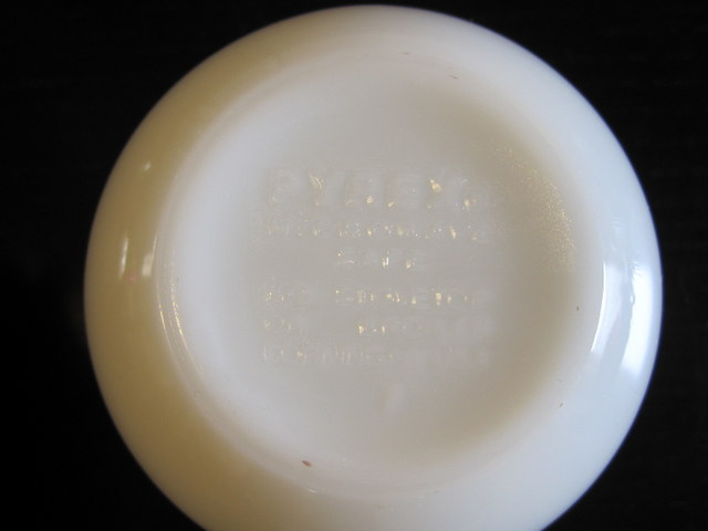 OLD PYREX オールドパイレックス カップ リボンブーケ 02